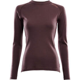 Aclima WarmWool Crew Neck Shirt Women, fudge